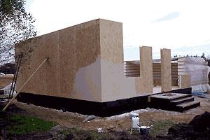 монтаж панелей стен