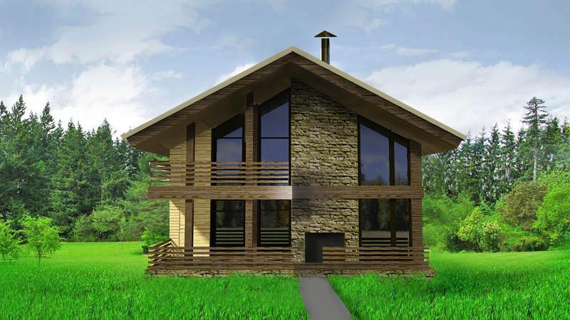 Дом с двусветной гостиной